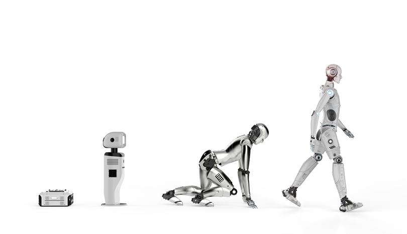 Image of robots developing