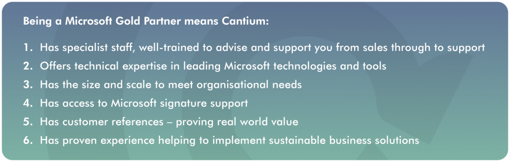 What Does it Mean to be a Microsoft Gold-Certified Partner