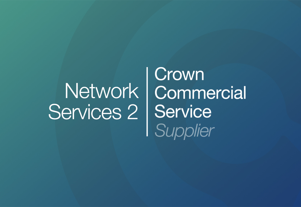 Accredited Logo confirming Cantium as a Crown Commercial Services Supplier on the Network Services 2 framework