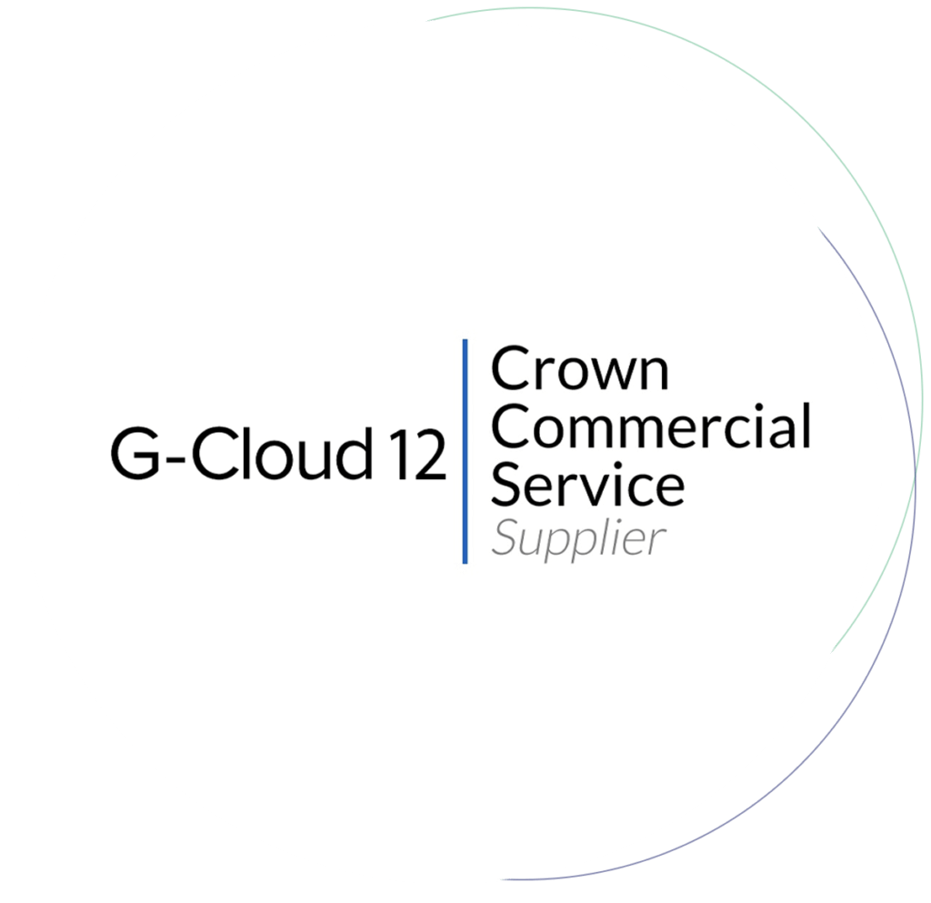 G-Cloud 11 Crown Commercial Services Logo - Healthcare Solutions