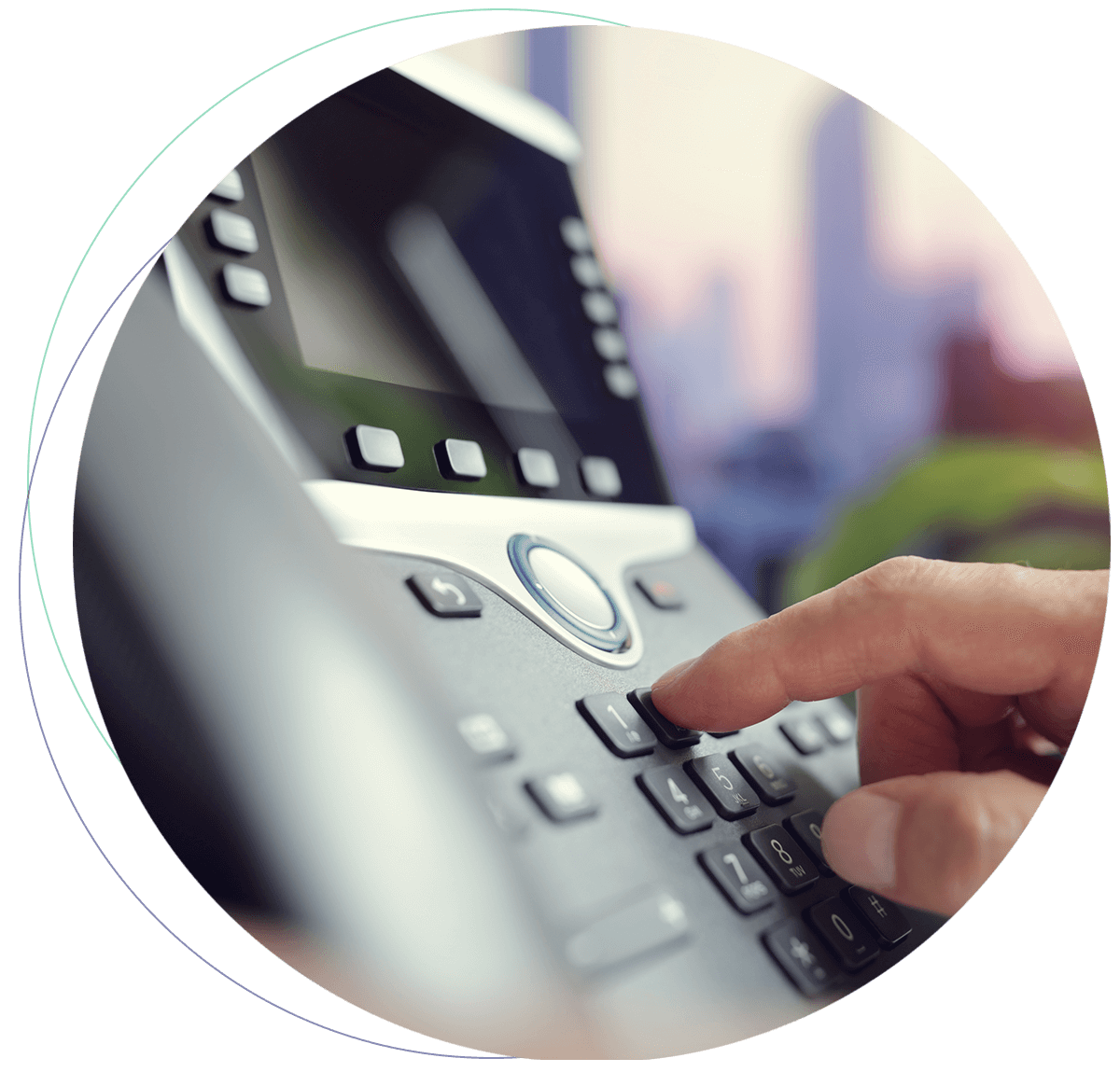 VoIP for the Public Sector telephone set