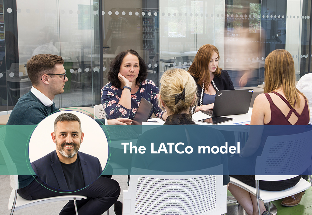 people in a meeting discuss The Latco Model
