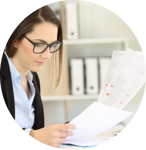 young girl looking at documentation for investigations by HR Advisory and Administration