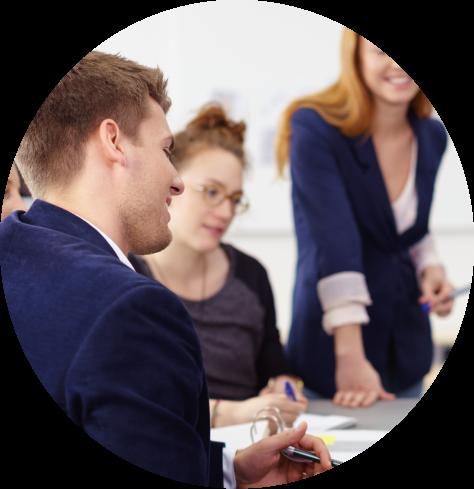 people discussing school leadership recruitment in Cantium Solutions