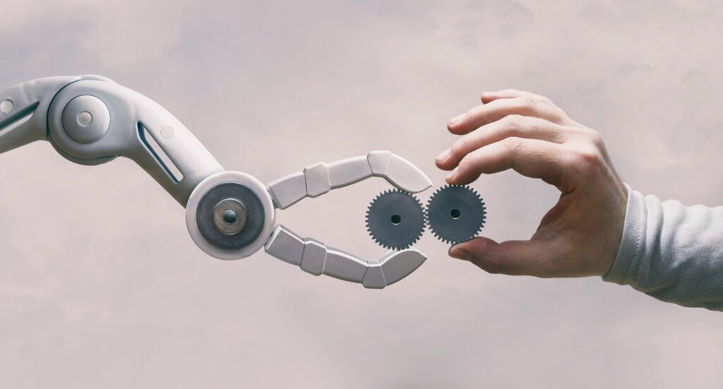 Robot and Human Hand working together